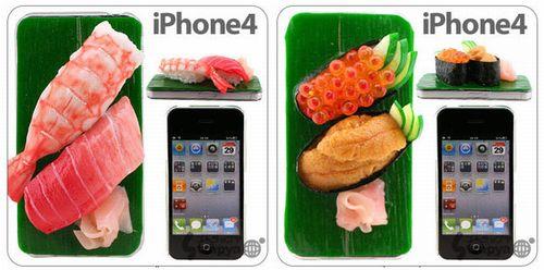 寿司が2貫乗ったiPhoneカバー、老舗食品サンプルメーカーが製作協力。