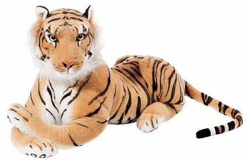 オンナっぽい虎のぬいぐるみ