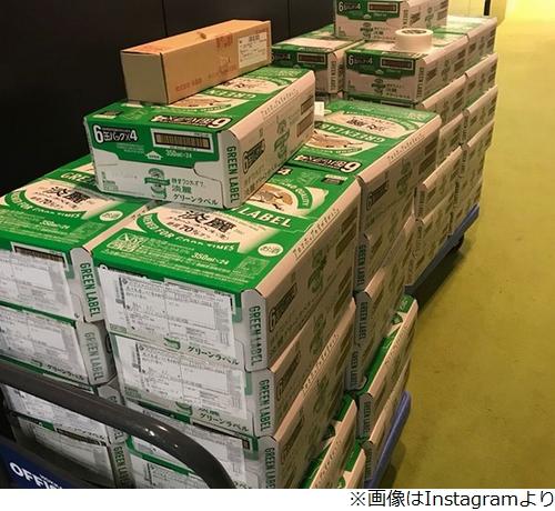 ダル、引退のハム飯山に発泡酒1200本贈る