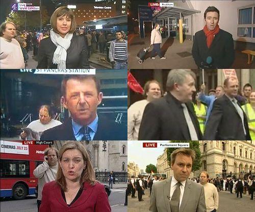"""中継に現れる""""謎の男""""の正体判明、英国で100回以上も映り話題に ..."""